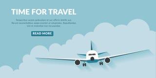 Fondo di concetto di viaggio con il bottone Fotografia Stock Libera da Diritti