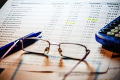 Fondo di contabilità di affari Immagine Stock Libera da Diritti