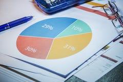 Fondo di contabilità di affari Fotografia Stock Libera da Diritti