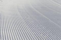 Fondo di corsa con gli sci - neve fresca sul pendio dello sci Fotografie Stock