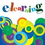 Fondo di corso di e-learning Fotografia Stock