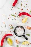 Fondo di cottura di marmo dell'alimento fotografie stock libere da diritti