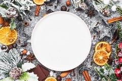 Fondo di cottura di festa Alimento di Natale fotografia stock libera da diritti