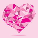Fondo di cristallo rosa dell'estratto del cuore Fotografia Stock Libera da Diritti