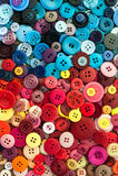 Fondo di cucito Colourful dei bottoni immagine stock libera da diritti