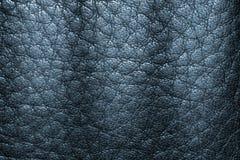 Fondo di cuoio blu profondo di struttura per progettazione Fotografia Stock Libera da Diritti