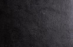 Fondo di cuoio brillante nero di struttura Immagine Stock
