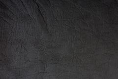 Fondo di cuoio nero Fotografia Stock