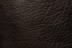 Fondo di cuoio nero nella fine su Immagine Stock Libera da Diritti