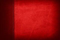 Fondo di cuoio rosso Fotografia Stock