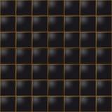 Fondo di cuoio senza cuciture delle mattonelle del cubo Fotografia Stock