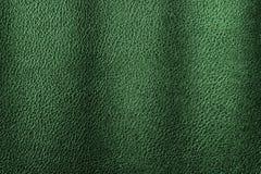 Fondo di cuoio verde di struttura per progettazione Immagini Stock Libere da Diritti