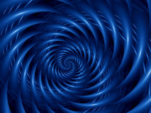 Fondo di Digital Art Abstract Blue Glossy Spiral Fotografia Stock Libera da Diritti