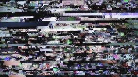 Fondo di distorsione di impulso errato stock footage