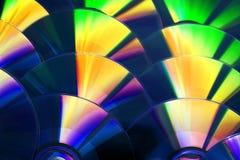 Fondo di DVD e del CD Immagini Stock