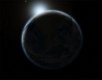 fondo di eclissi dello spazio 3D Immagini Stock
