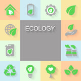Fondo di ecologia con l'ambiente, energia verde Immagine Stock