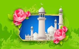 Fondo di Eid Mubarak (Eid felice) Fotografia Stock Libera da Diritti