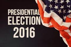 Fondo 2016 di elezioni presidenziali con la lavagna Fotografie Stock Libere da Diritti