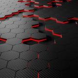Fondo di esagono della fibra del carbonio Immagini Stock