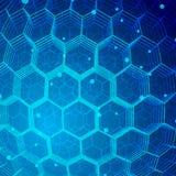 Fondo di esagono di tecnologia Immagine Stock Libera da Diritti
