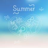 Fondo di estate Illustrazione di Stock