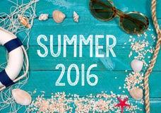 Fondo 2016 di estate Fotografia Stock Libera da Diritti