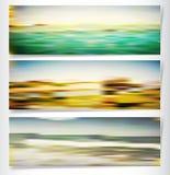 Fondo di estate con il mare e la spiaggia Immagini Stock