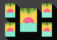 Fondo di estate del sole e del mare Fotografia Stock