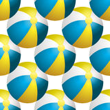 Fondo di estate di vettore con i beach ball Illustrazione Vettoriale