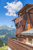 Fondo di estate nelle alpi francesi Fotografie Stock Libere da Diritti
