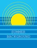 Fondo di estate Vettore Fotografia Stock