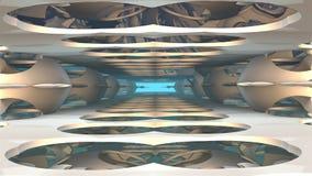 fondo di fantasia 3D dalle forme sconosciute Fotografia Stock Libera da Diritti