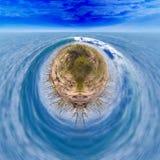 Fondo di fantasia dell'oceano del surfista Immagini Stock