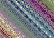 Fondo di fantasia modellato onda multicolore illustrazione vettoriale