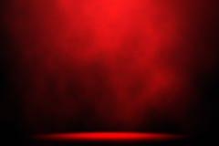 Fondo di fase rosso del riflettore del fumo Fotografia Stock Libera da Diritti