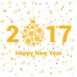 Fondo di festa del nuovo anno con l'iscrizione Immagine Stock