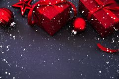 Fondo di festa del nuovo anno e di Natale Cartolina d'auguri di natale Vacanze invernali immagine stock libera da diritti