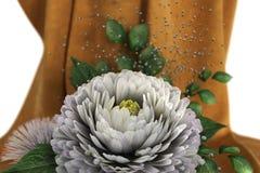 Fondo di festa dell'isolato con i fiori Fotografie Stock Libere da Diritti