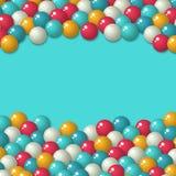 Fondo di festa delle caramelle di Gumball illustrazione vettoriale