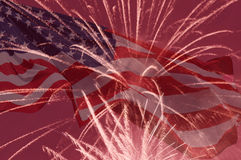 Fondo di festa di festa dell'indipendenza Fotografia Stock