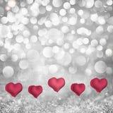 Fondo di festa di giorno di biglietti di S. Valentino su Paloma Grey & Fotografie Stock Libere da Diritti