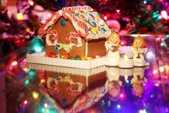 Fondo di festa di stagione di Natale Fotografia Stock