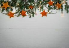 Fondo di feste con le decorazioni fatte a mano Fotografia Stock Libera da Diritti