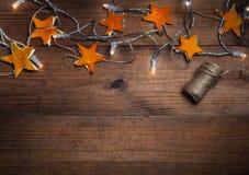 Fondo di feste con le decorazioni fatte a mano Immagini Stock Libere da Diritti