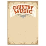 Fondo di festival di musica country per testo Immagini Stock Libere da Diritti