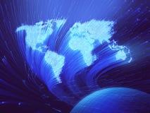Fondo di fibra ottica Immagini Stock