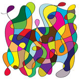Fondo di forme e di colori di caos illustrazione di stock