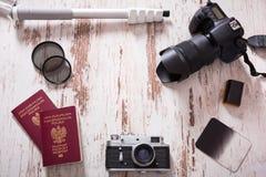 Fondo di fotografia di viaggio Fotografie Stock Libere da Diritti