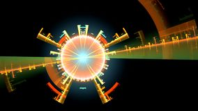 Fondo di frattale con la spirale viola astratta Alto ciclo dettagliato archivi video